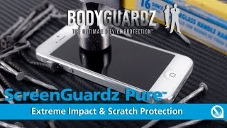 ScreenGuardz Pure Premium Glass Screen Protector for iPhone 5 by BodyGuardz