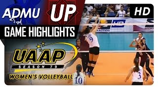 ADMU vs UP | Game Highlights | UAAP 79 WV | March 11, 2017