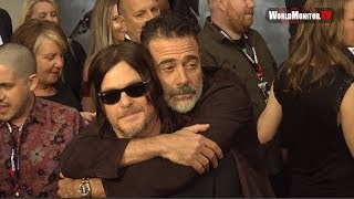 Norman Reedus gets a Kiss and Hug at