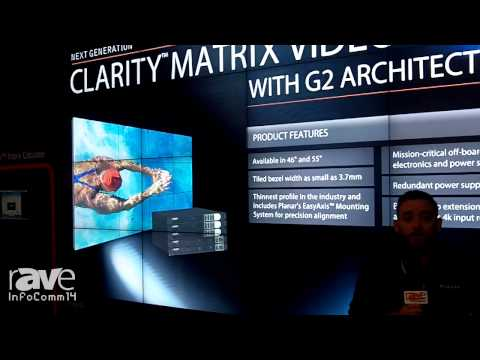 InfoComm 2014: Planar Explains the Clarity Matrix LCD Video Wall System with G2 Architecture