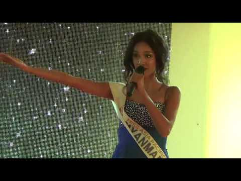 Singing performance of the Winner of Miss Asia Pacific World 2014 May Myat Noe from Myanmar