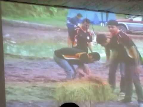 วิดีโอสาธิตการดำนาด้วยเครื่องดำนา