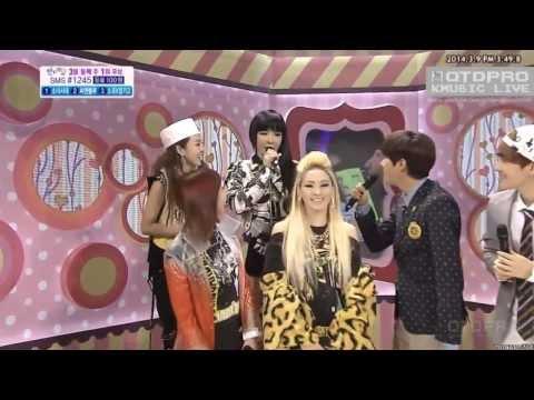 140309 2NE1 Backstage Interview @ Inkigayo (Live)
