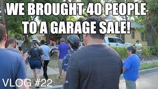 We Brought 40 People to a Garage Sale and a Thrift Store! Vlog #22
