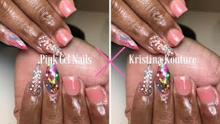 Pink Gel Full Set | Kristina Kouture Nails