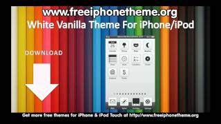 White Vanilla Free Theme For iPhone and iPod Touch