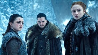 Sansa and Arya talking against Daenerys to Jon Snow | Game of Thrones S08E04