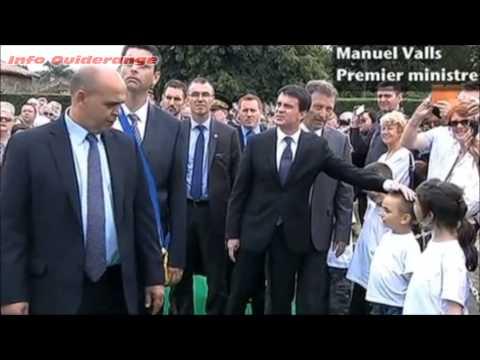 Manuel Valls traité d'imposteur à Oradour-sur-Glane 10/06/14
