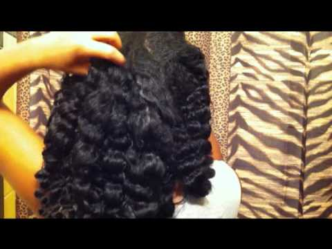 7 Plait Braidout Results w/KimmayTube Leave-In Conditioner Recipe