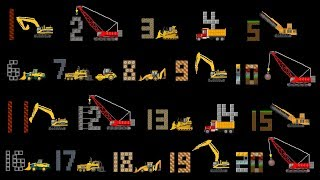 Vehicles Counting Collection - Construction Counting to 20, Count to 100 - The Kids' Picture Show