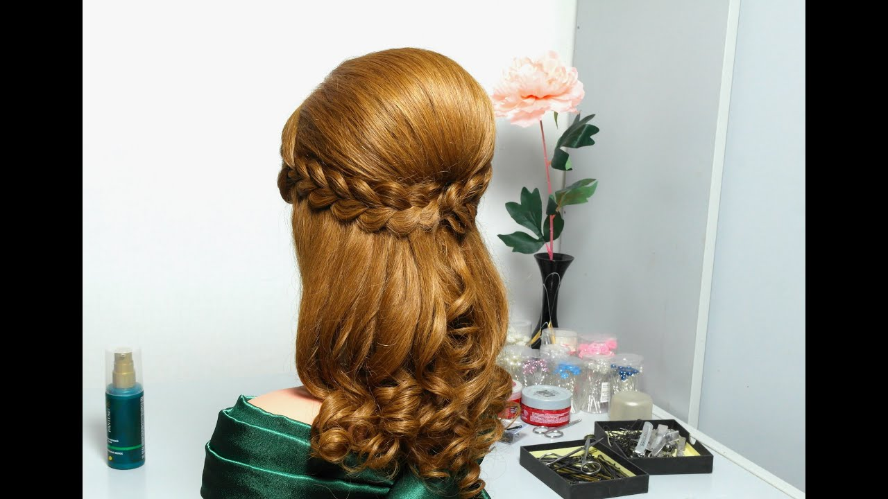 Hair Style Videos Youtube: Romantic Hairstyle For Long Hair With French Braids