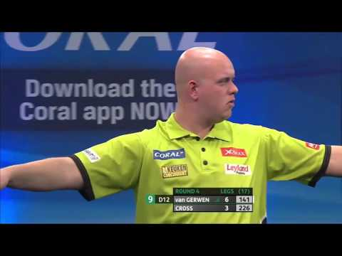 9 Dart Finish - Michael van Gerwen against Rob Cross - UK Open - 5 March 2016
