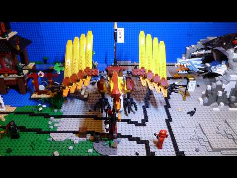 Lego Ninjago Fire Temple 2507 Stop Motion Brickfilm + Build
