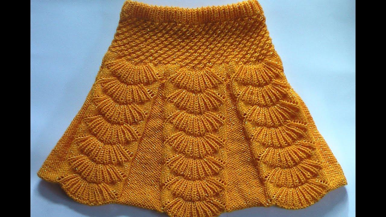 Вяжем на спицах плиссированную юбочку для девочки 3-5 лет 18