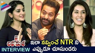 Jr NTR Makes Fun of Raashi Khanna and Nivetha Thomas | Jai Lava Kusa Movie Latest Funny Interview