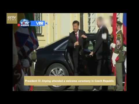 17506 politics Welt CCTV News 【V观】President Xi Jinping attended a welcome ceremony in Czech Repub