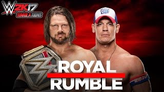 WWE 2K17 = ROYAL RUMBLE 2017: John Cena vs AJ Styles