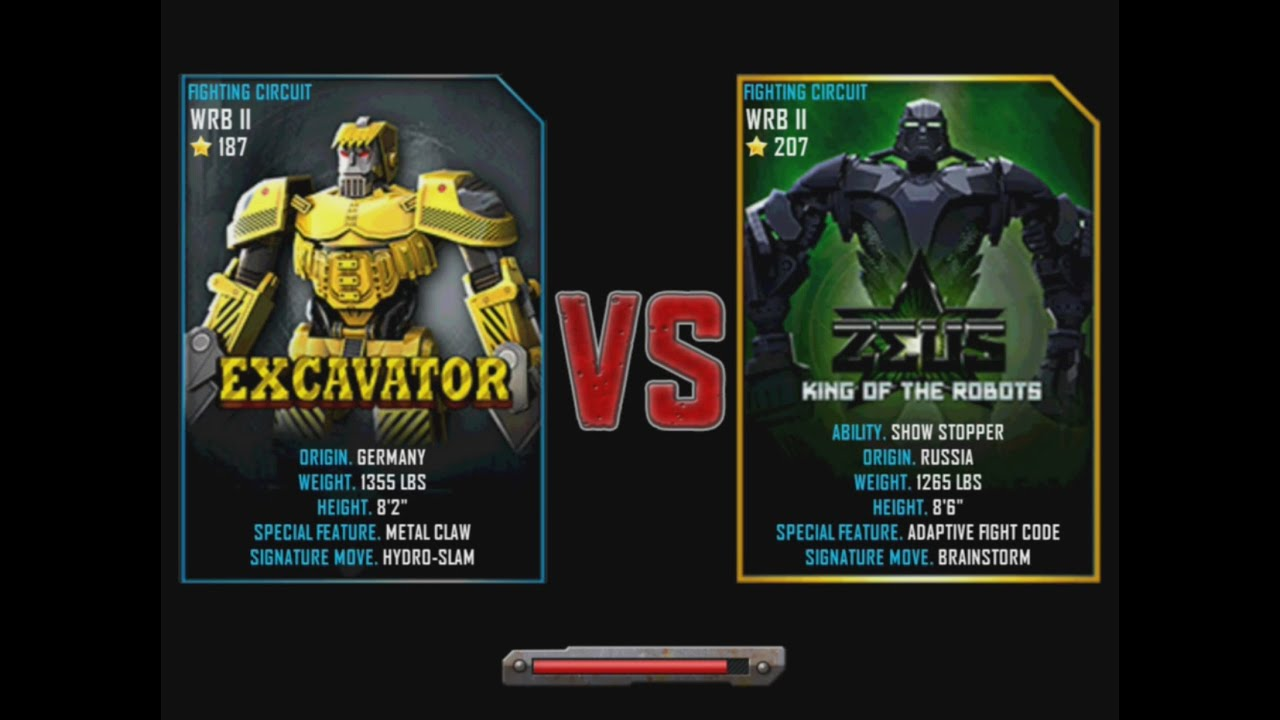 Real Excavator Games Real Steel Wrb Excavator vs