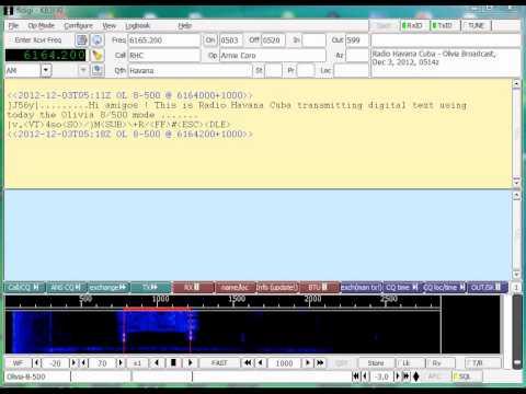 Olivia 8/500 on Radio Havana Cuba Shortwave 6165 KHz Shortwave