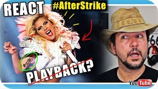 LADY GAGA PLAYBACK? Lip Sync? SUPER BOWL- Marcio Guerra  Reagindo Music Live React