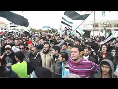 Syria embassy protest in Amman December 2011