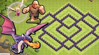 BEST Town Hall Level 7 Defense Strategy for Clash of Clans + Defense REPLAY & TH7 Dark Elixir Drill