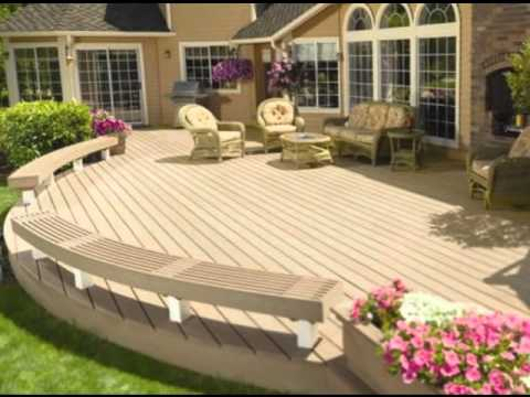 Plans de terrasse en bois et id es de terrasse ou patio youtube - Idee patio exterieur ...