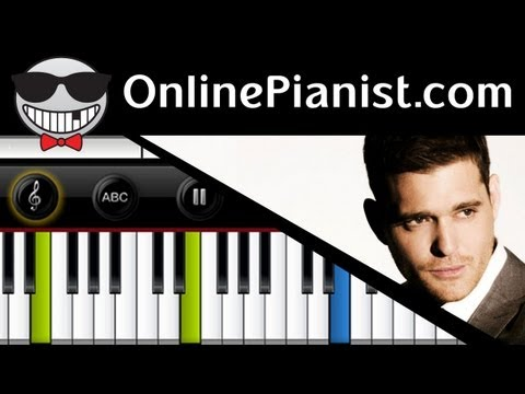 Michael Bublé - It's A Beautiful Day - Piano Tutorial video