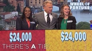 We Have a Tie! | Wheel of Fortune