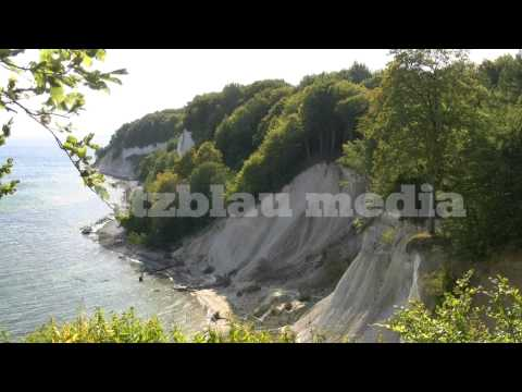 Stock Footage Europe Germany Baltic Sea Rügen Island Chalk Cliffs Ostsee Kreidefelsen National Park