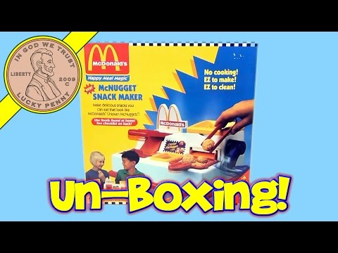 McDonald's Happy Meal Magic Toys - 1993 Frozen Fruit Snack Maker (Unboxing)