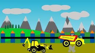 Excavator For Kids Videos  Excavator with Dump Truck for Children  Red Football Videos