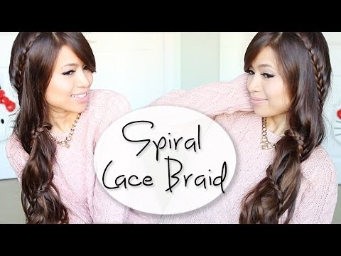 Spiral Lace Braid Hairstyle Hair Tutorial ft. Bellami Hair Extensions