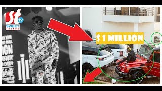WOW! SHATTA WALE SHOWS OFF HIS CARS WORTH $1M AT HIS ZYLOFON SHIP MANSION
