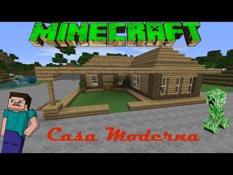 Minecraft casa moderna de madera facil tutorial 1 for Casa moderna 1 8