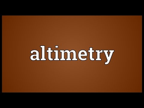 Header of altimetry