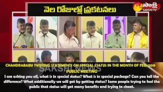 Chandrababu Adopts 'Double Standards' On AP Special Status - Watch Exclusive