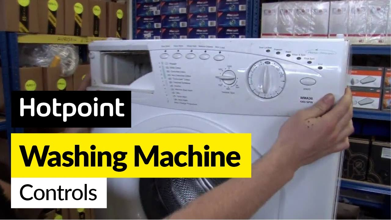 How To Replace Washing Machine Controls In A Hotpoint