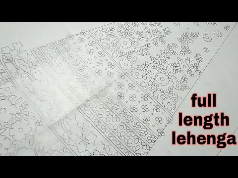 fashion designer wedding lehenga | lehenga sketch for embroidery
