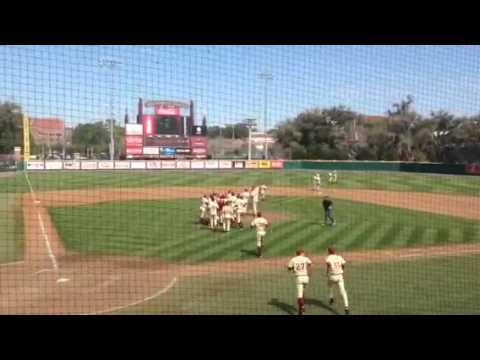 Mike Compton throws a complete game shutout, final strike-o