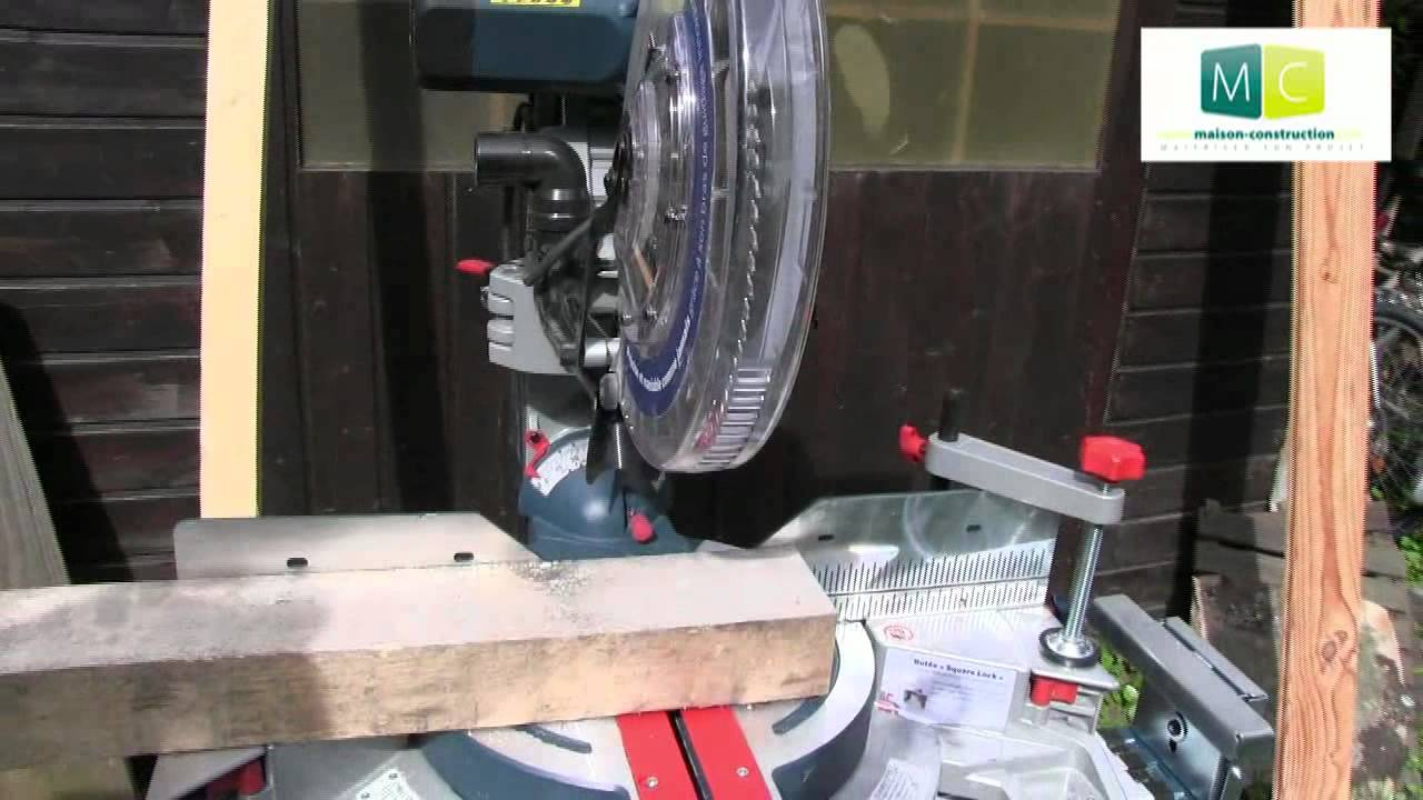 D coupe bois scie onglet bosch gcm 12 miter saw for cutting wood youtube - Scie sur table fabrication maison ...