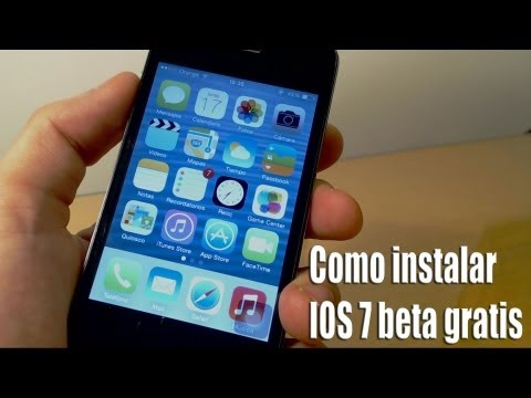 Instalar IOS 7 beta gratis en iPhone 5/4s/4 y iPod touch 5g 2013 español