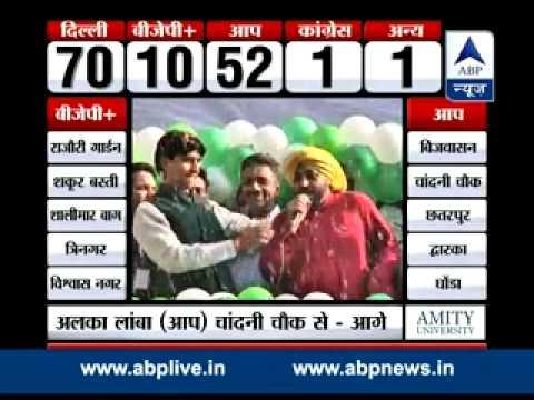 Kumar Vishwas leads rousing cheer as celebrations begin outside AAP office