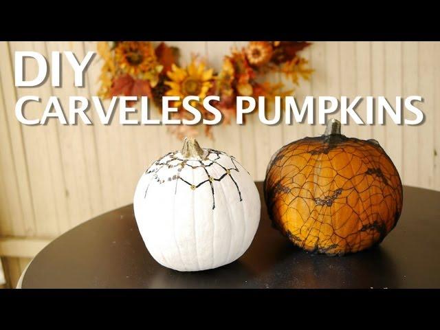 DIY: Carve-less Pumpkins