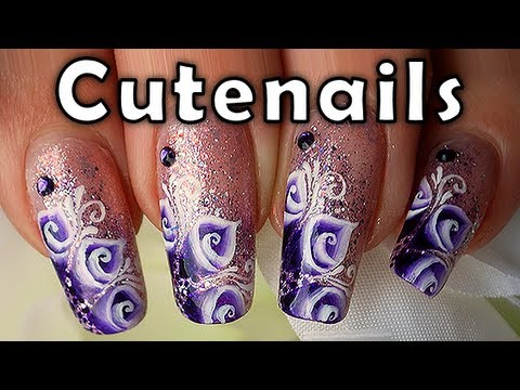 One Stroke Nail Art With