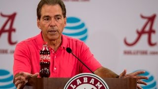 Nick Saban announces the new quarterback pairing for the USC game