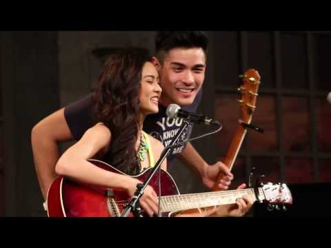 Kim Chiu and Xian Lim Acoustic Guitar Duet in Toronto 09/14/13