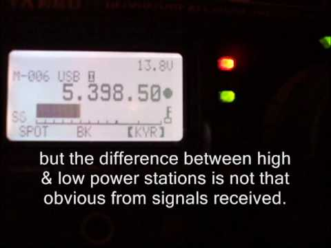 UK portable 60m amateur radio operation