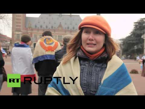 Netherlands: Activists celebrate Crimea re-joining Russia on eve of referendum anniversary