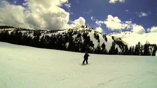 20160501.Ashton returns to snowboard Discovery after Broadway @ Mammoth